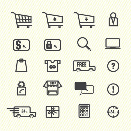 Shopping online icons Vector