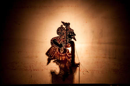 shadow puppet: Shadow Puppet, Traditional Thai Shadow Theater Stock Photo