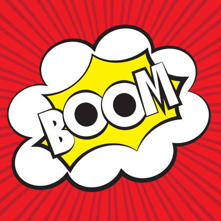 Boom comic, Vector illustration comic style Vector