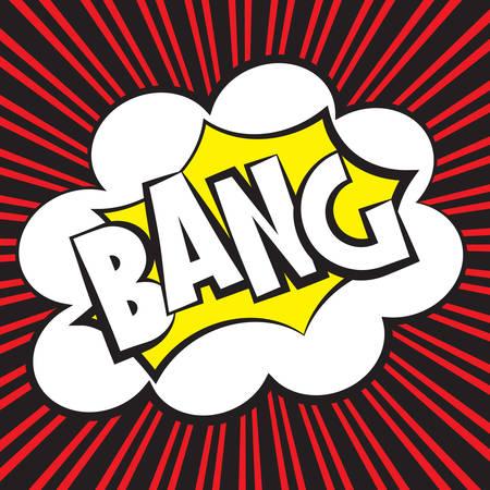 Bang comic, Vector illustration comic style Stock Vector - 26529942