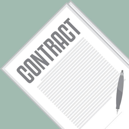 sign contract: Contract Signing. Vector illustration