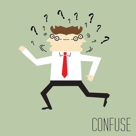Businessman are confused and shake head Vector