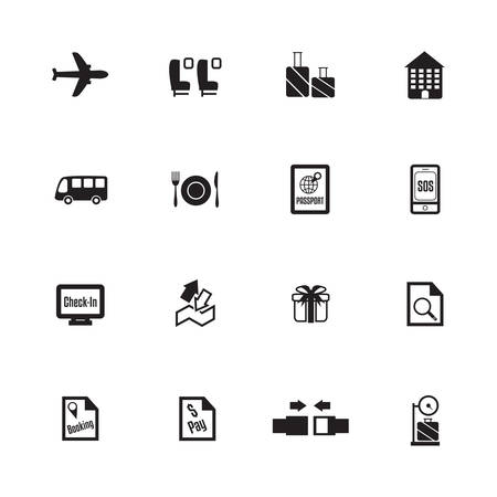 Airport icons. Airline icons. vector illustration Vector