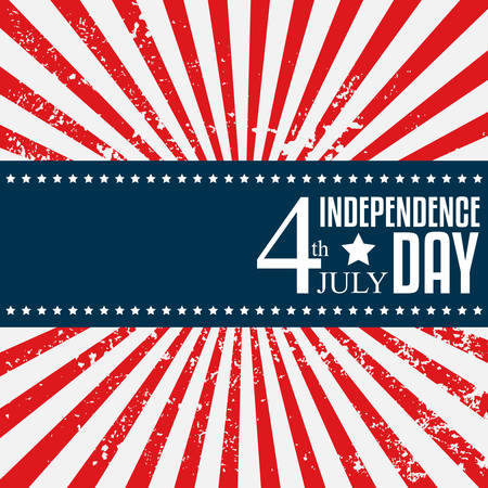 Independence day poster. 4 July. Vector illustration Vector