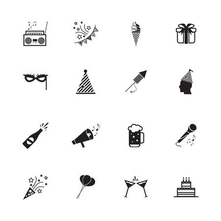 Party icons and Celebration icons. Vector illustration  Vector