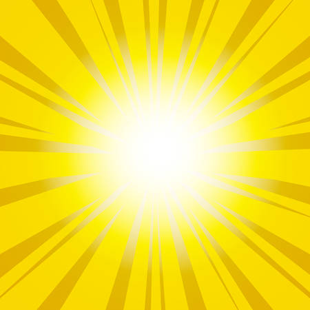 yellow shine: Sunburst Background. Vector illustration  Illustration