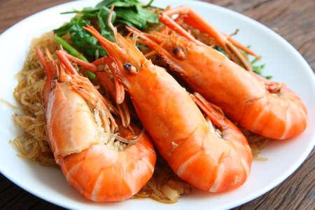 vermicelli: Fideos de camar�n. Comida tailandesa