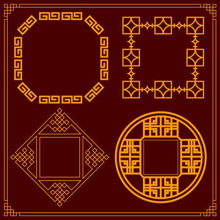 Chinese decorative frame Ilustracja
