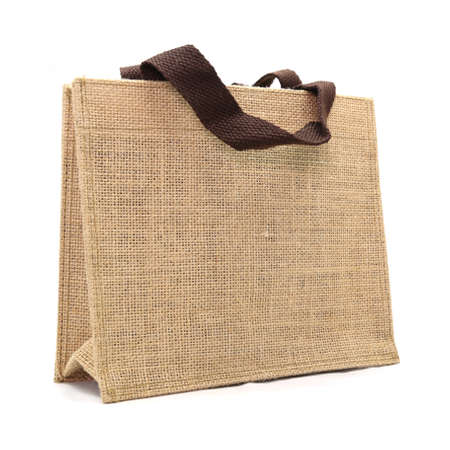 canvas bag isolated on white background 免版税图像 - 29802786