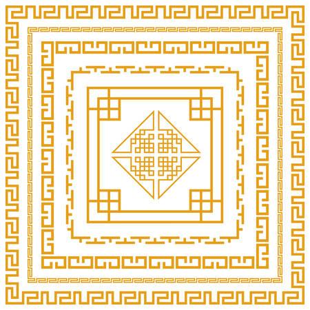 Chinese decorative frame Zdjęcie Seryjne - 29653727