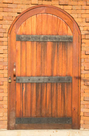 arched: Arched wooden door