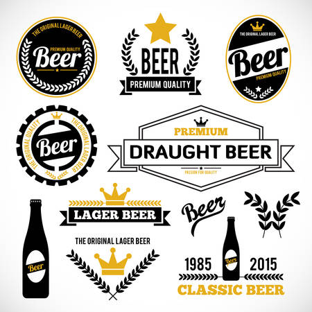 glasses of beer: Beer Labels