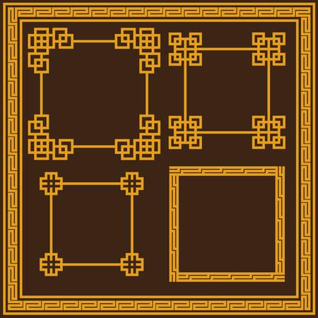 Chinese decorative frame 矢量图像