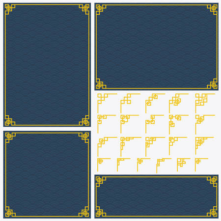 Chinese border design for book cover