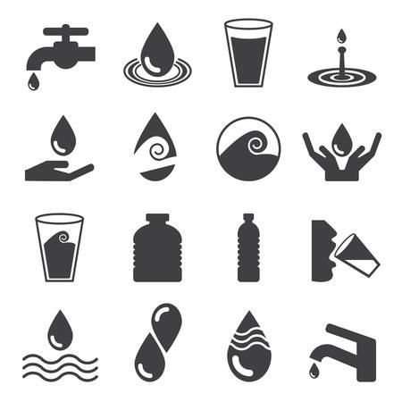 agua: Icono de Agua Vectores