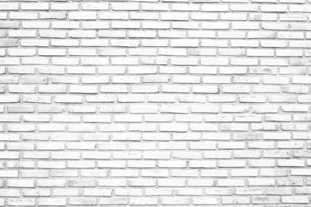 witte achtergrond: Witte bakstenen muur Stockfoto
