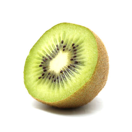 Kiwi fruit on white background 스톡 콘텐츠