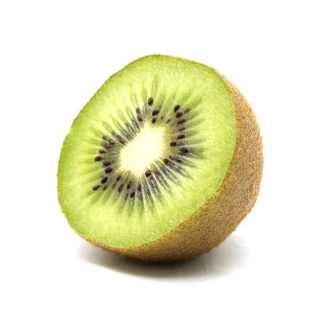 Kiwi Obst auf weißem Hintergrund