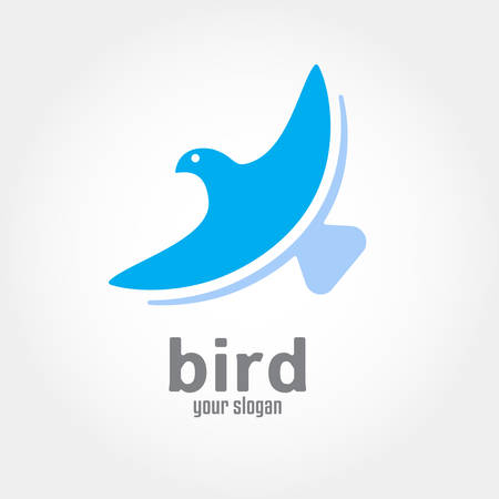 phoenix: Bird flying vector design. business concept icon Illustration