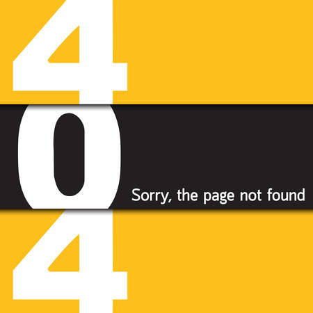 page not found: 404 Sorry, the page not found Illustration