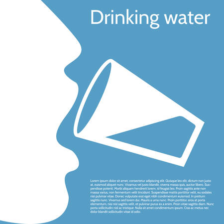 girl drinking water: Drinking water