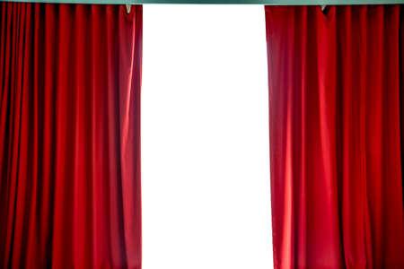 cortinas rojas: Cortinas rojas Foto de archivo