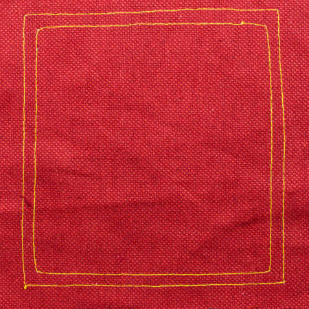 sew tags: Red fabric texture Stock Photo