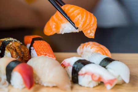 sushi set: Sushi set, Japanese food
