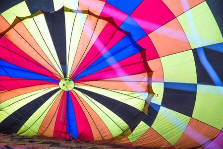 pilot light: colorful hot air balloon Stock Photo