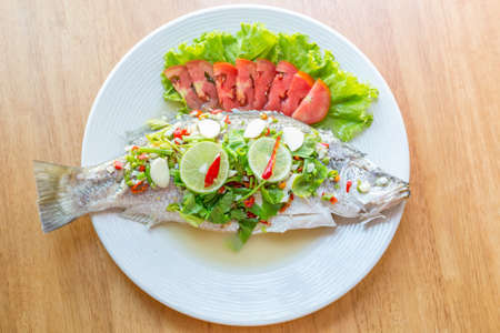 Steamed Fish in Lemon Sauce