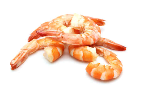 shrimp isolated on white background 写真素材