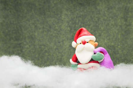 sculpted: Santa Claus sculpted from clay