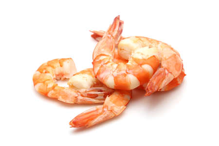 shrimp isolated on white background Foto de archivo