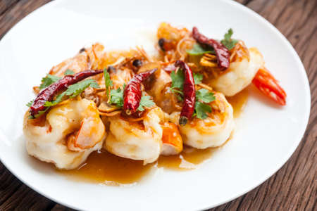 shrimp: Deep Fried Shrimp with Tamarind Sauce