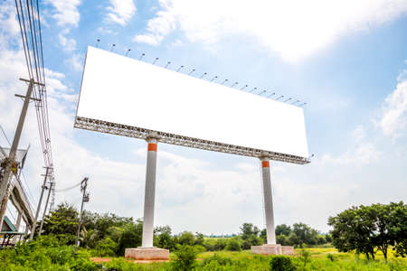 display advertising: Blank billboard, Advertising outdoor public commercial Stock Photo