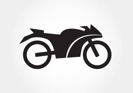 motorcycle: motorcycle icon, silhouettes of motorcycle Illustration