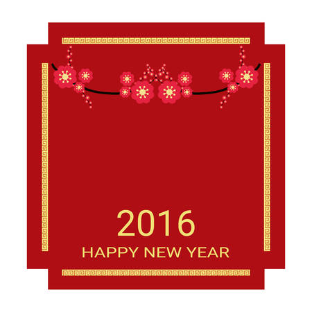 chinese new year card: Chinese New Year 2016 for greeting card Illustration