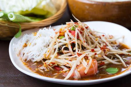tam: papaya salad, thai food, som tam