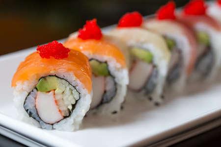 comida japonesa: Conjunto del sushi, comida japonesa