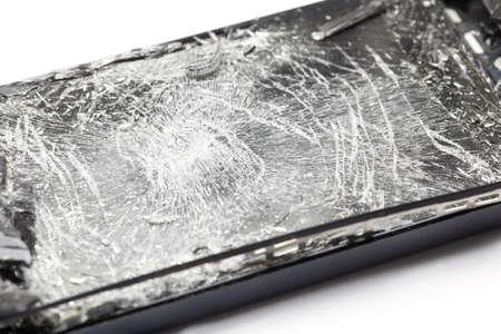 screen: Mobile smartphone with broken screen