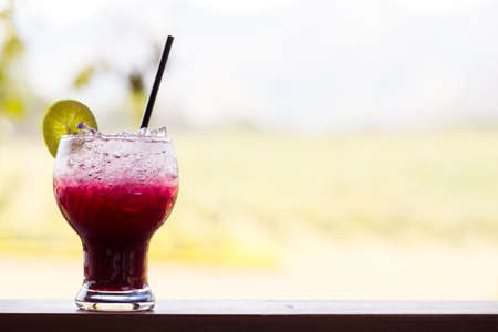 grape juice: Grape juice with lime soda