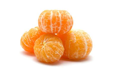 peeled: Peeled orange isolated on white background