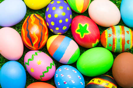 top: Top view of easter egg Stock Photo