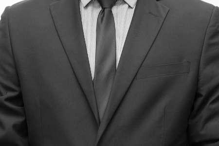tie necktie: Businessman in suit and tie necktie Stock Photo