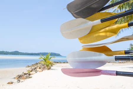 trat: Paddle and beach at Koh kood island, Trat province, Thailand Stock Photo