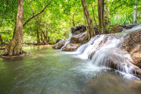 Huay Mae Khamin waterfall, Waterfall in Kanchanaburi, Thailand