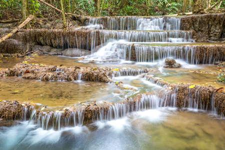 khamin: Huay Mae Khamin waterfall, Waterfall in Kanchanaburi, Thailand