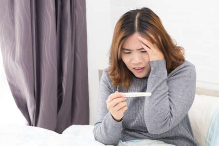 Anxiety about pregnancy Stock Photo