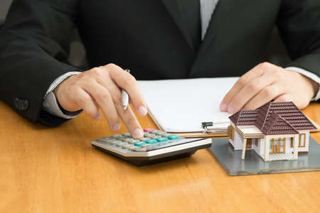 Mortgage home Stock Photo