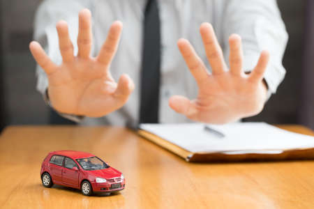 Bank does not approve car loan Stock Photo